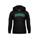 Youth Black Fleece Hoodie-Upstate Spartans