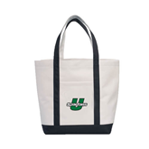 Contender White/Black Canvas Tote-Spartans U