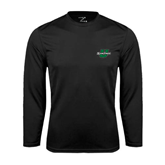 Performance Black Longsleeve Shirt-Spartans U