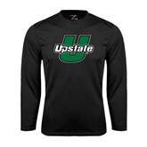 Performance Black Longsleeve Shirt-Upstate U