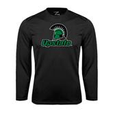 Performance Black Longsleeve Shirt-Upstate w/Spartan Head