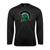 Performance Black Longsleeve Shirt-Spartans Head
