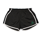 Ladies Black/White Team Short-Upstate w/Spartan Head