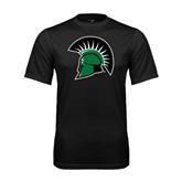 Performance Black Tee-Spartans Head