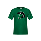 Youth Dark Green T Shirt-Spartans Head