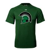Under Armour Dark Green Tech Tee-Spartans Head
