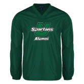 V Neck Dark Green Raglan Windshirt-Alumni