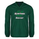 V Neck Dark Green Raglan Windshirt-Soccer