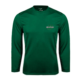 Performance Dark Green Longsleeve Shirt-Spartans U