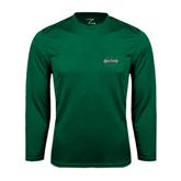 Performance Dark Green Longsleeve Shirt-Upstate U