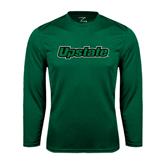 Performance Dark Green Longsleeve Shirt-Upstate