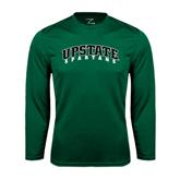 Performance Dark Green Longsleeve Shirt-Upstate Spartans
