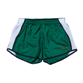 Ladies Dark Green/White Team Short-Upstate w/Spartan Head