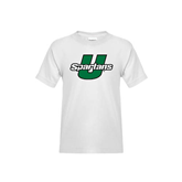 Youth White T Shirt-Spartans U