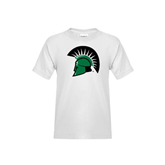 Youth White T Shirt-Spartans Head
