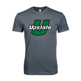 Next Level SoftStyle Charcoal T Shirt-Upstate U