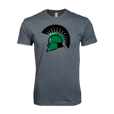 Next Level SoftStyle Charcoal T Shirt-Spartans Head