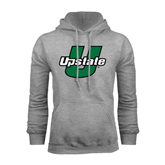 Grey Fleece Hoodie-Upstate U