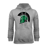 Grey Fleece Hoodie-Spartans Head