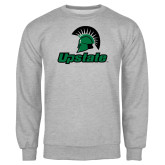 Grey Fleece Crew-Upstate w/Spartan Head