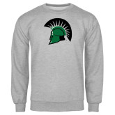 Grey Fleece Crew-Spartans Head