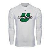 Under Armour White Long Sleeve Tech Tee-Spartans U