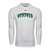 Under Armour White Long Sleeve Tech Tee-Upstate Spartans
