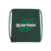Dark Green Drawstring Backpack-Spartans U