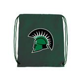 Dark Green Drawstring Backpack-Spartans Head