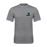 Performance Grey Concrete Tee-Upstate w/Spartan Head