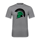 Performance Grey Concrete Tee-Spartans Head