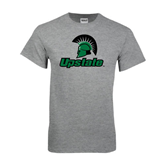 Grey T Shirt-Upstate w/Spartan Head