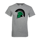 Grey T Shirt-Spartans Head