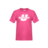 Youth Cyber Pink T Shirt-Spartans U
