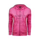 ENZA Ladies Fuchsia Fleece Full Zip Hoodie-Spartans U