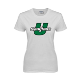 Ladies White T Shirt-Spartans U