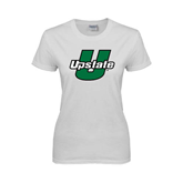 Ladies White T Shirt-Upstate U