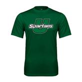 Performance Dark Green Tee-Spartans U