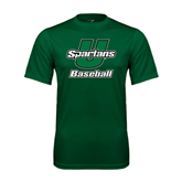 Performance Dark Green Tee-Baseball