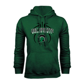 Dark Green Fleece Hood-Basketball Design Black