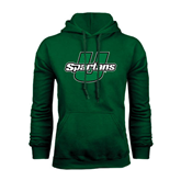 Dark Green Fleece Hood-Spartans U