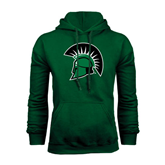 Dark Green Fleece Hood-Spartans Head
