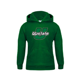 Youth Dark Green Fleece Hoodie-Upstate U