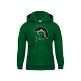 Youth Dark Green Fleece Hoodie-Spartans Head