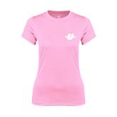 Ladies Performance Light Pink Tee-Spartans U