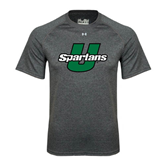 Under Armour Carbon Heather Tech Tee-Spartans U