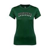 Ladies Performance Dark Green Tee-Upstate Spartans