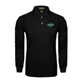 Black Long Sleeve Polo-Spartans U