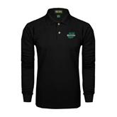 Black Long Sleeve Polo-Upstate U