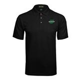 Black Easycare Pique Polo w/ Pocket-Spartans U